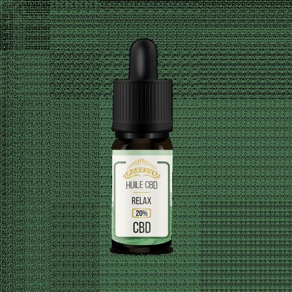 fiole de 10ml huile de cbd greeneo guadeloupe shop